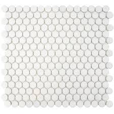 Matte White Bedroom Merola Tile Hudson Penny Round Matte Black 12 In X 12 5 8 In X 5