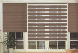 Blinds For Living Room Translucent Roller Zebra Blinds In Dark Brown Curtains For Living