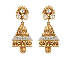 images of gold earings buy lavanya jhumki gold earring for women online best gold