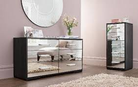 mirrored bedroom furniture square shape brown wooden bedside table