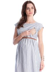 nursing dress cotton stripe maternity nursing dress seraphine