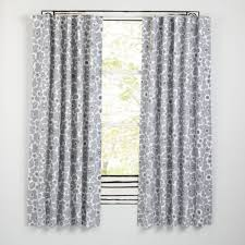 Blackout Curtains Gray Black Curtain Gray Traditions Damask Drape Panel Inch Length