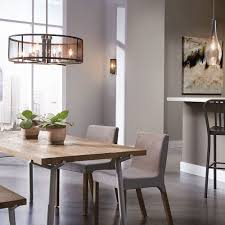 unusual drum shape pendant lighting for dining room with long