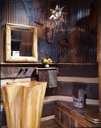 The Powder Room Salon - an east texas lakefront log home cypress trees tree trunks and