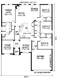 home plans homepw76422 2 454 square feet 4 bedroom 3 traditional style house plan 4 beds 2 00 baths 2300 sq ft plan