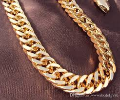 gold curb necklace images Online cheap heavy 18k yellow gold double curb chain mens huge jpg