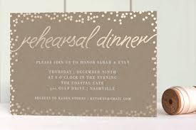 rehearsal and dinner invitations starlight foil pressed rehearsal dinner invitations by saltwater