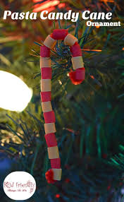 Christmas Ornaments Crafts For Adults by Pasta Candy Cane Ornament Craft For Kids At Christmas