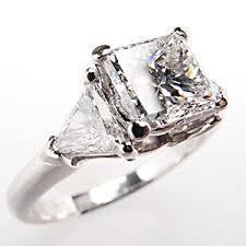 platinum princess cut engagement rings this striking princess cut engagement ring