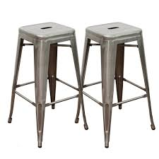Counter Stool Backless Abbie Home 30 Inch Backless Metal Counter Height Bar Stools Set Of