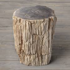 petrified wood end table petrified wood stump end table the green head