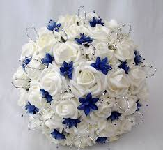 wedding flowers royal blue wedding bouquet on wedding flower bouquets ivory