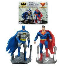 monogram bookends batman and superman resin bookend statues monogram batman