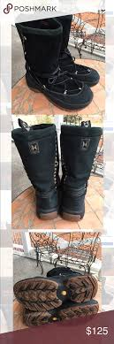 womens leather boots size 12 ulu black suede leather boots s size 12 suede leather