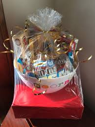 Popcorn Baskets Movie Theme Bridal Shower Gift Basket Movie Trivia Game Wrapped