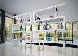 Modern White Bookcases Blu Dot Hitch Bookcase Grid Furnishings Beautiful Modern White