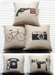Home Decor Online Stores Novelty Gift Retro Sketch Vintage Telephone Camera Gun Bike
