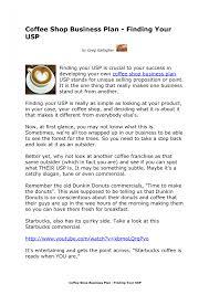 coffee shop business plan marketing mix dreamalatte ex cmerge