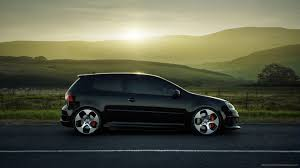 black volkswagen golf black volkswagen golf coupe sideview wallpaper for iphone 4