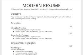 Sample Resume For Changing Careers by Resume Examples Free Modern Resume Template Google Docs Summary