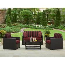 Patio Furniture Conversation Set Better Homes And Gardens Rush Valley 4 Piece Outdoor Conversation