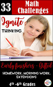 math challenges for early finishers gifted homework