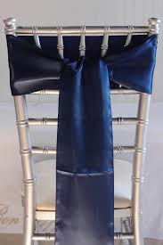 chair sashes navy blue satin chair sashes 6x106