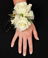 White Wrist Corsage 35 Best Prom Military Ball Wedding Corsages Images On Pinterest