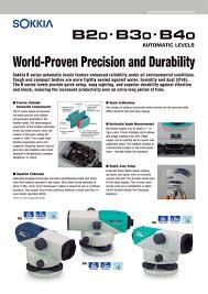 b20 b30 b40 sokkia pdf catalogue technical documentation