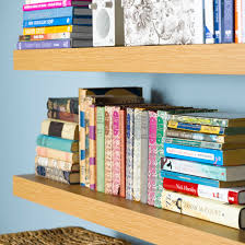 How To Make Invisible Bookshelf How To Put Up A Floating Shelf Ideal Home