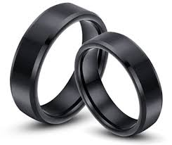 black wedding band sets matching tungsten wedding bands for men and women idream shop