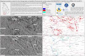 Space Debris Map Flood In Sri Lanka Charter Activations International Disasters
