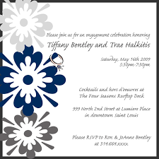 simple engagement celebration party invitation template and floral