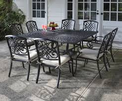 Patio Table Ls Alfresco Home Barcelona Cast Aluminum 9 Dining Set With 64