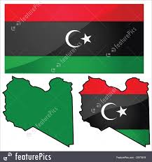 Map Of Libya Flags Map And Flag Of Libya Stock Illustration I2973519 At