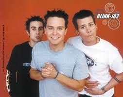 Blink 182 Halloween Shirt by Blink 182 Group Photo Orange Background Sticker