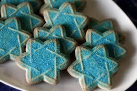 hanukkah cookie cutters cut out decorated hanukkah cookies