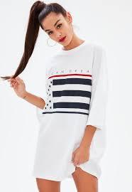 American Flag Corset White American Flag Oversized T Shirt Dress Missguided