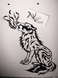 tribal tattoo wolf howl by ladyanora on deviantart