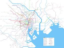 Subway Map by Tokyo Urban Rail Map Metro Subway Suburban Railways