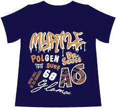 myatle kids screen print design fashion design t shirt design