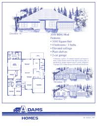 Floor Plans For 3000 Sq Ft Homes by North Port Adams Homes