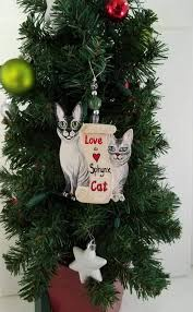 custom 2 cat ornament custom cat cat ornament