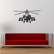 apache helicopter vinyl wall sticker by oakdene designs