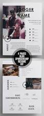 Best Interactive Resume Builder by Creative 4 Pages Blog Sponsorship Kit Resume Template Print