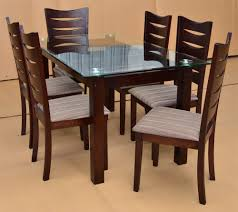 Glass And Wood Dining Room Table Furniture Wooden Dining Table Designs With Glass Top 9 Of 20