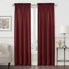 Silver And Red Curtains Royal Velvet Window Treatments Jcpenney