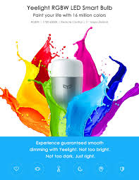xiaomi yeelight rgbw smart led bulb wifi enabled 16 million colors