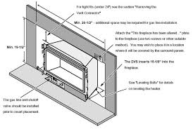 Fireplace Insert Dimensions by 32 Dvs Gsr2 Gas Insert The Fireplace Place