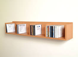 Wall Mounted Bookshelves Wood by Wall Mounted Book Shelf The Hemingway Wall Mount Bookcase